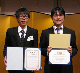 受賞した武井さん(左)と斎藤さん(右)