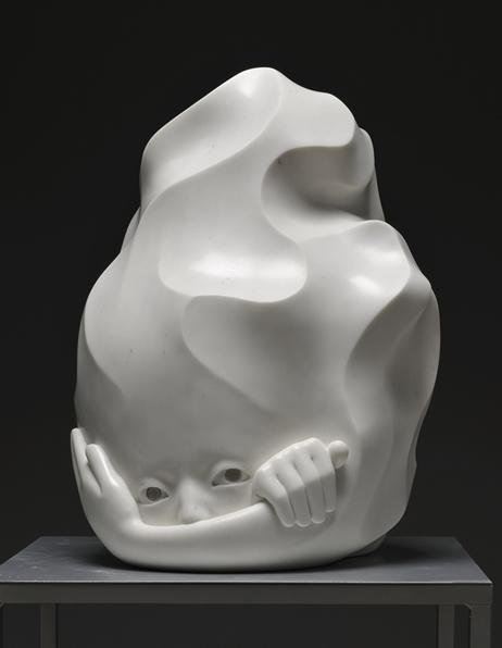 「不安と体温」 2013 大理石、銀