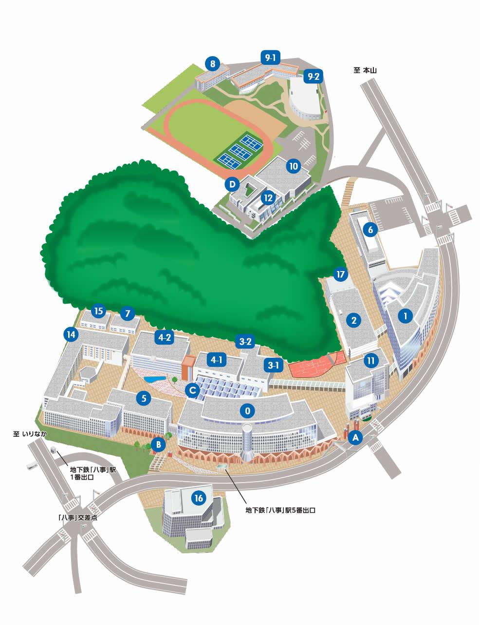 名古屋キャンパスマップ