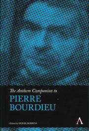 The Anthem Companion to Pierre Bourdieu
